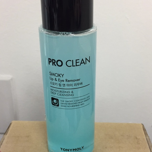 TONYMOLY Pro Clean Smoky Lip and Eye Remover,3.3 F